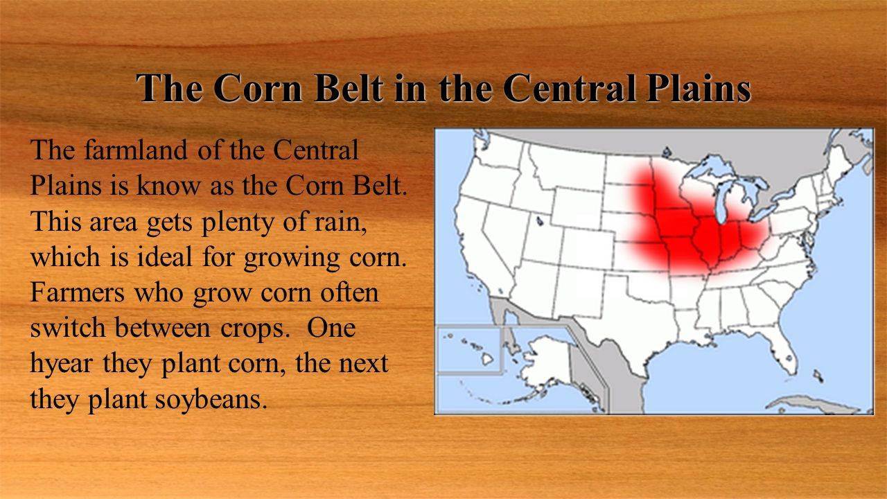 The Corn Belt in the Central Plains