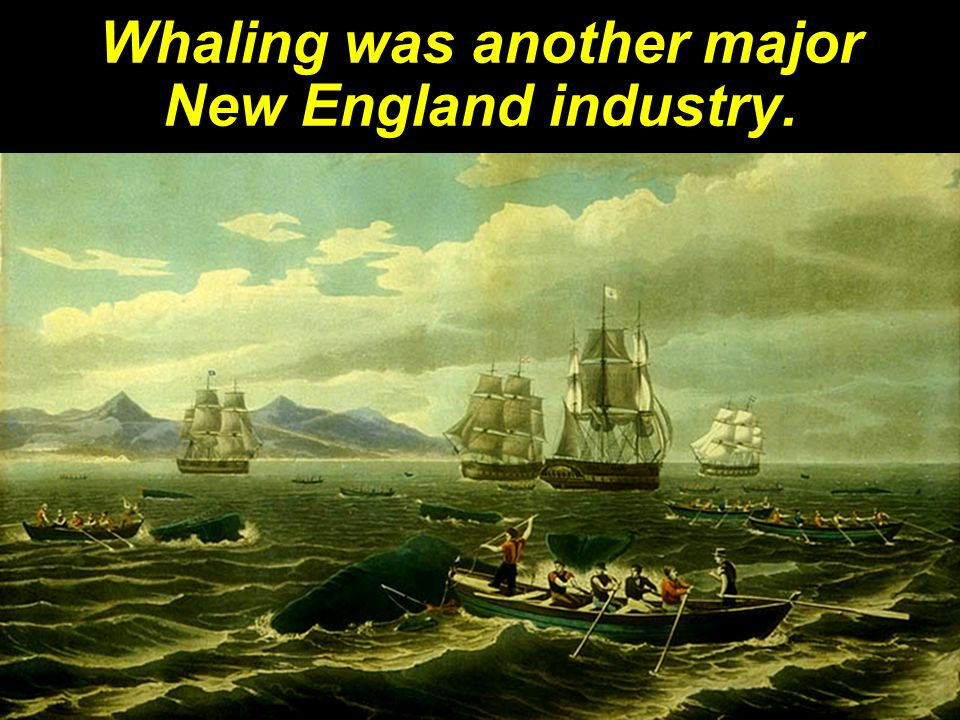 Whaling was another major New England industry.