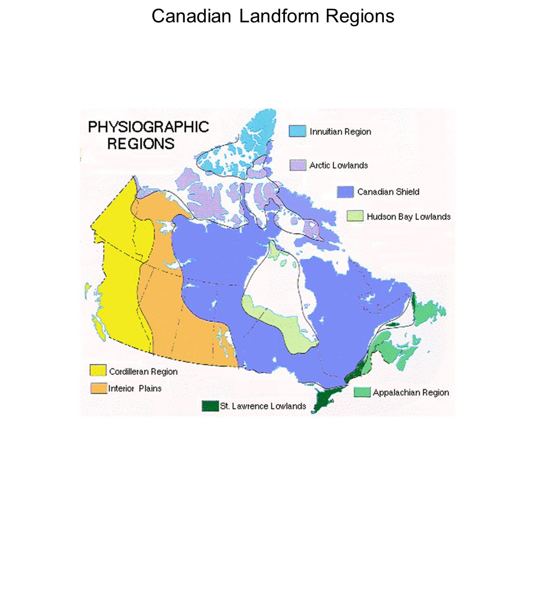 Canadian Landform Regions