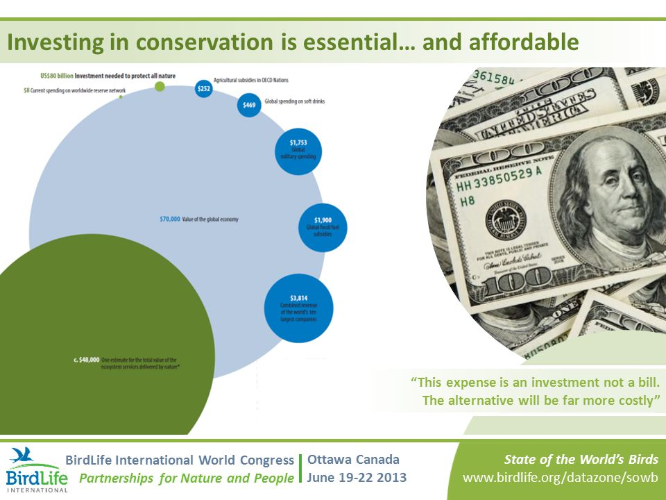 Investing in conservation is essential… and affordable