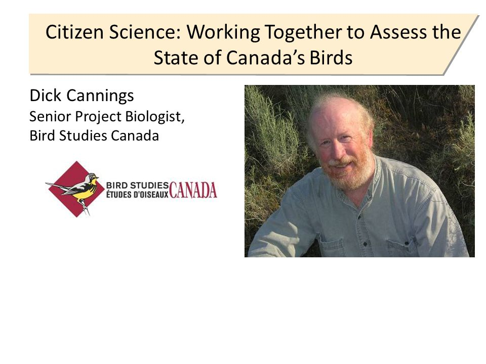 Citizen Science: Working Together to Assess the State of Canada's Birds