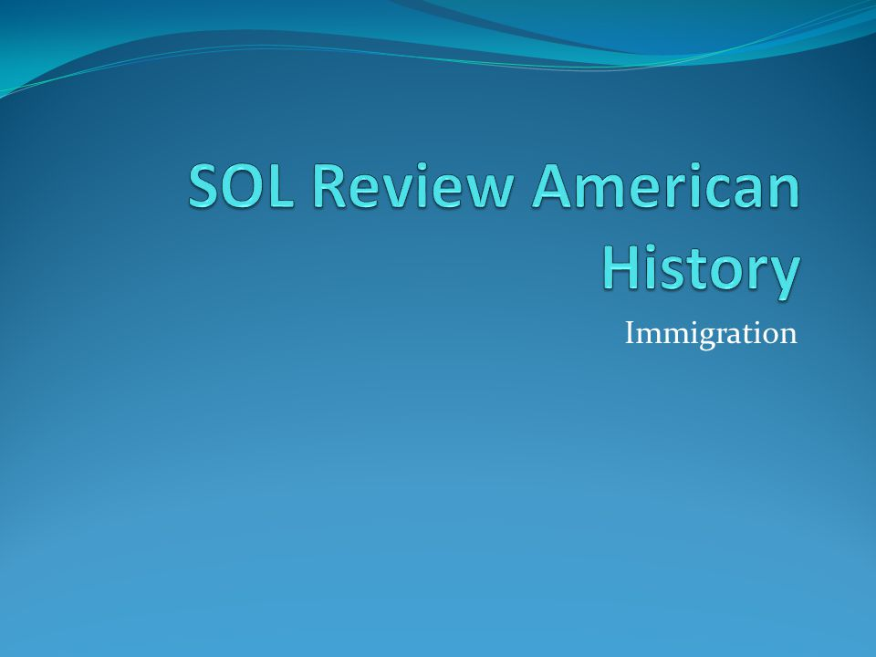 SOL Review American History