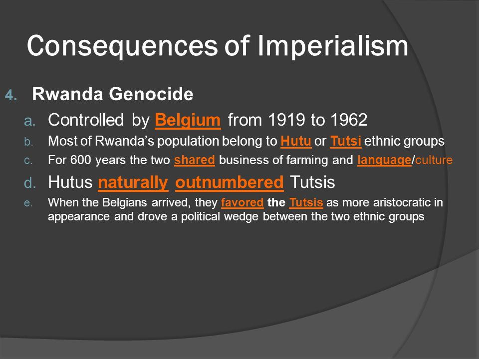 Consequences of Imperialism