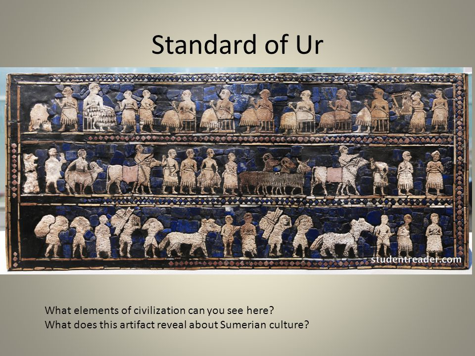 Standard of Ur What elements of civilization can you see here