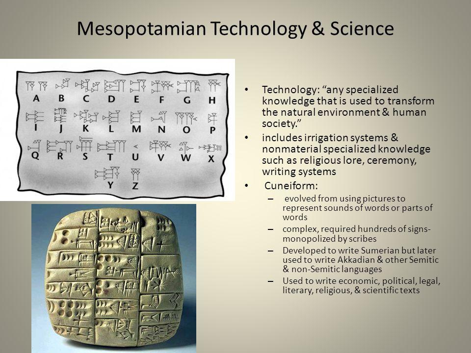 Mesopotamian Technology & Science