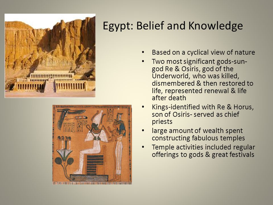 Egypt: Belief and Knowledge
