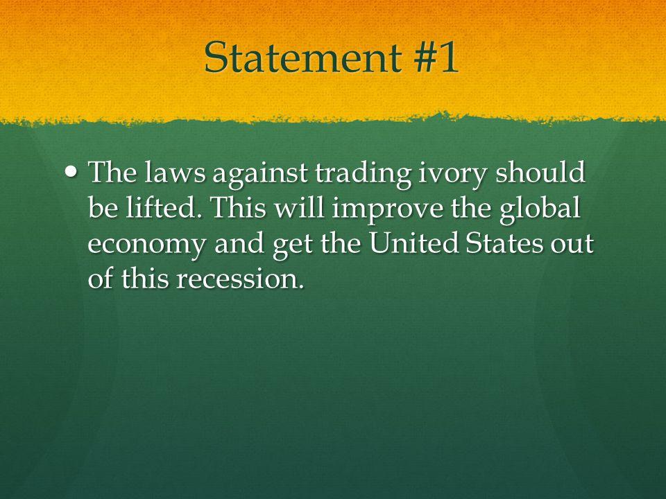 Statement #1