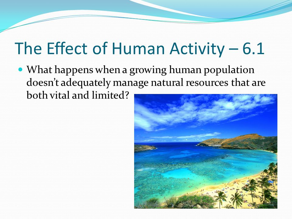 The Effect of Human Activity – 6.1
