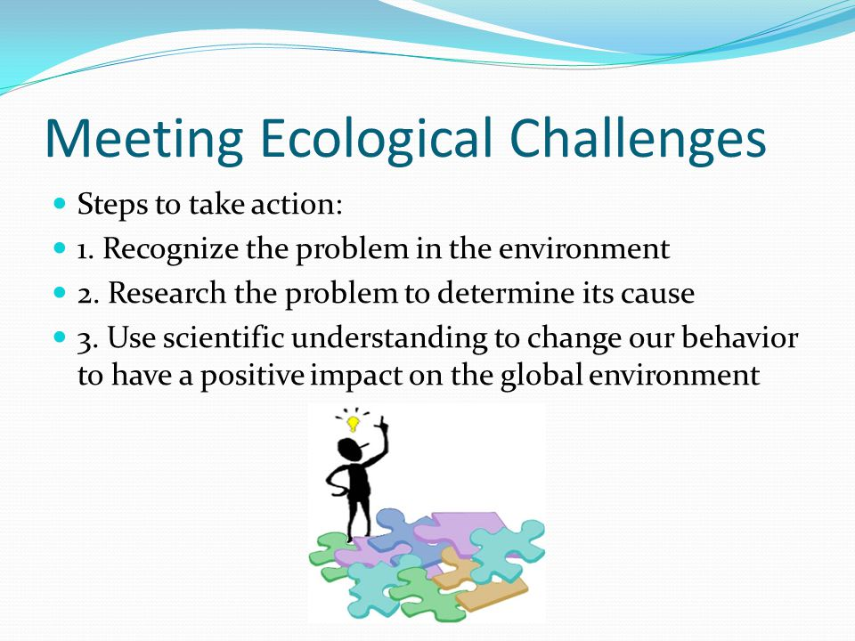 Meeting Ecological Challenges