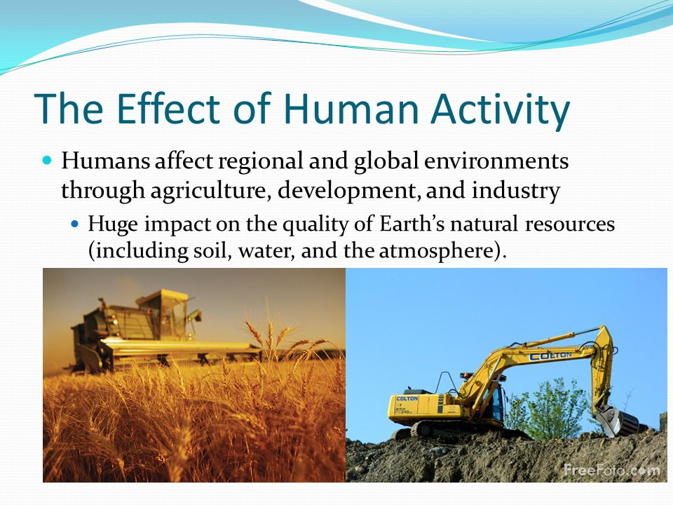 Human activity impact on waterways