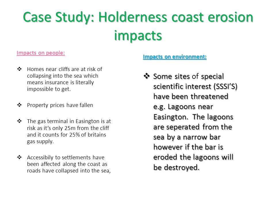Case Study: Holderness coast erosion impacts