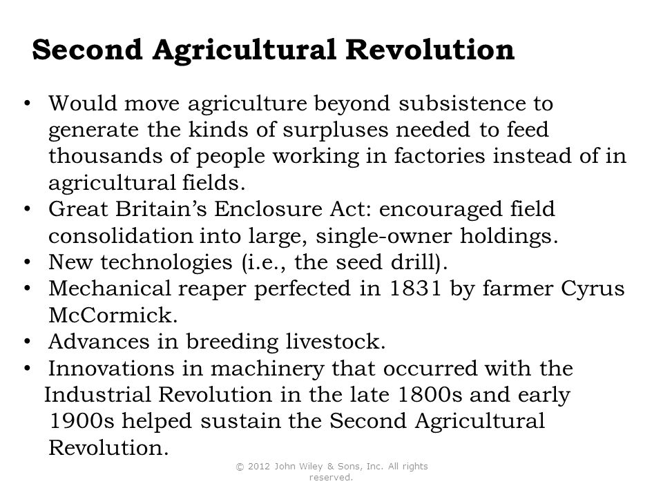 Second Agricultural Revolution