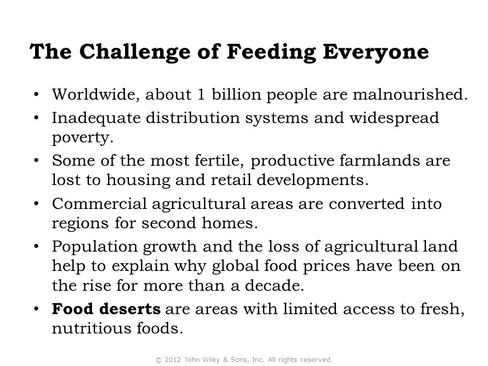 The Challenge of Feeding Everyone