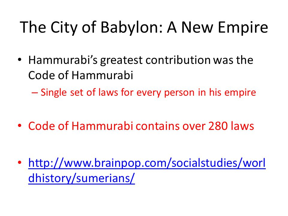The City of Babylon: A New Empire