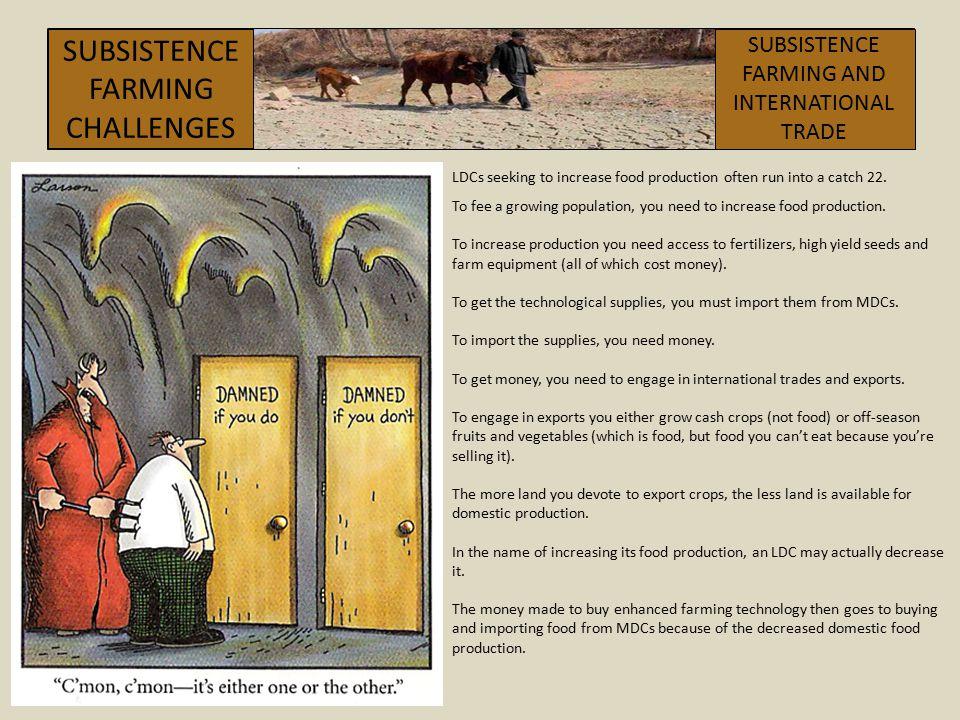 SUBSISTENCEFARMING CHALLENGES SUBSISTENCE FARMING AND INTERNATIONAL