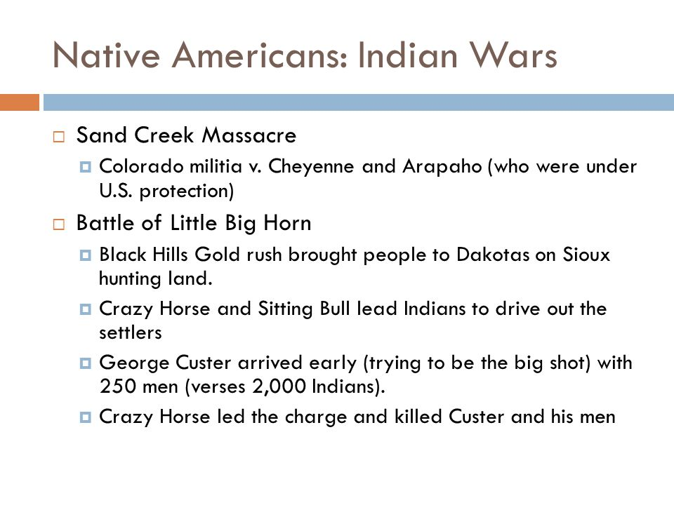 Native Americans: Indian Wars