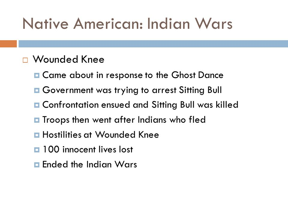 Native American: Indian Wars