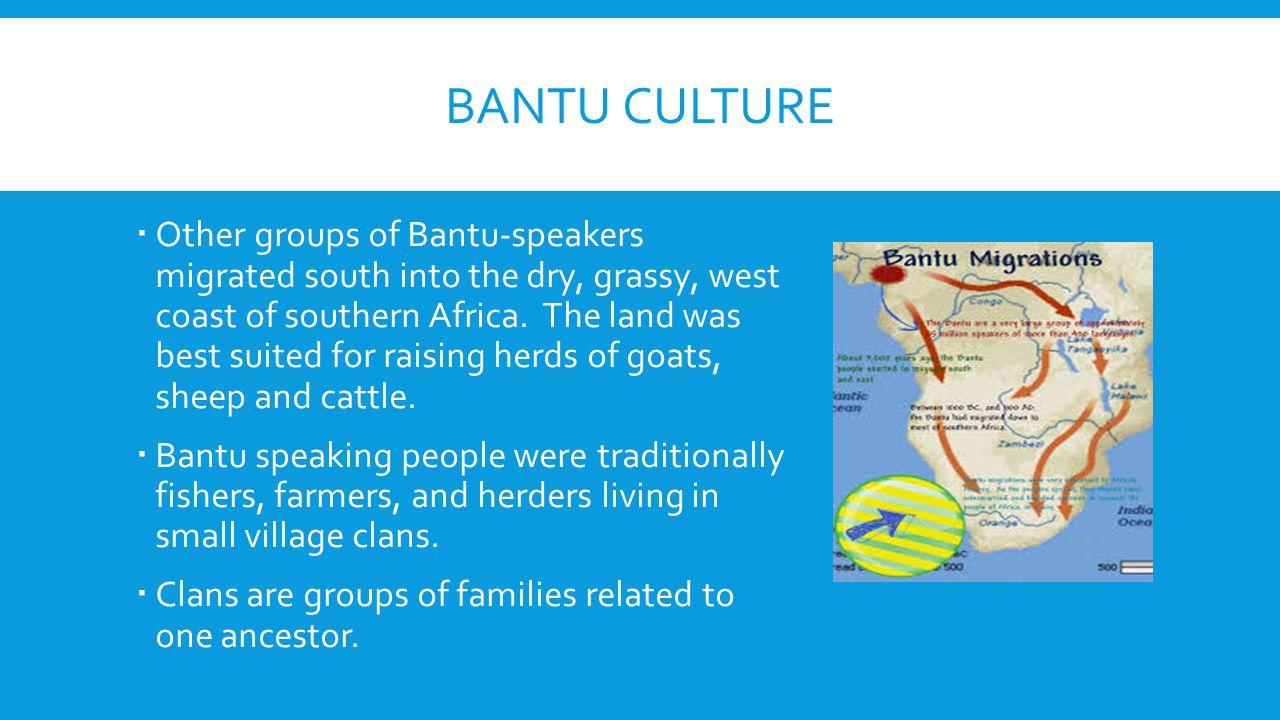 Bantu Culture