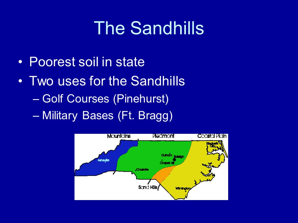 The Sandhills Poorest soil in state Two uses for the Sandhills