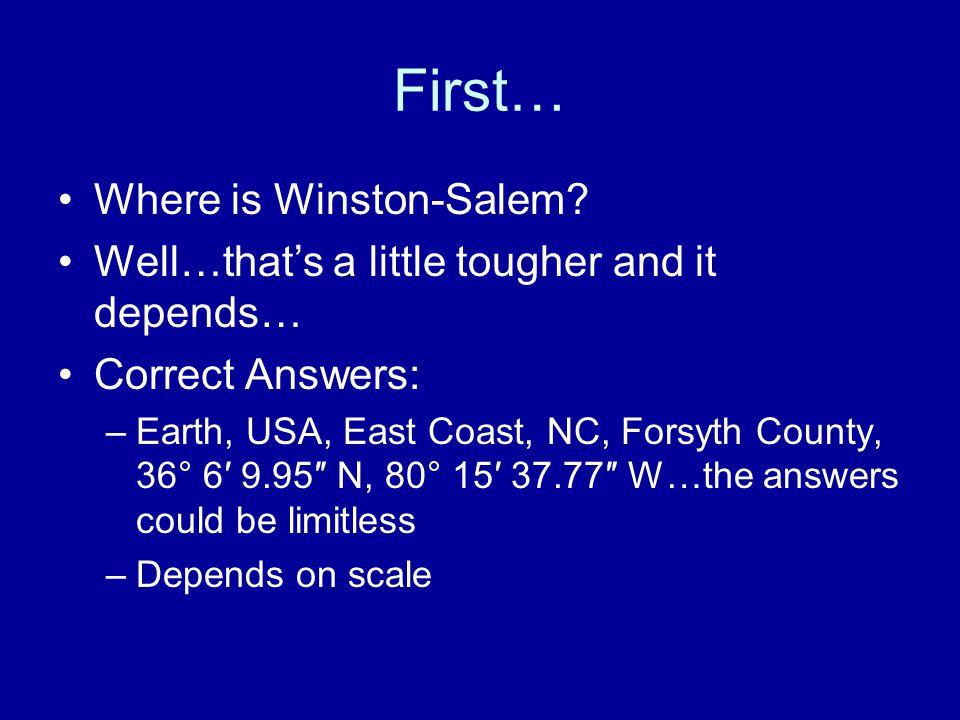 First… Where is Winston-Salem