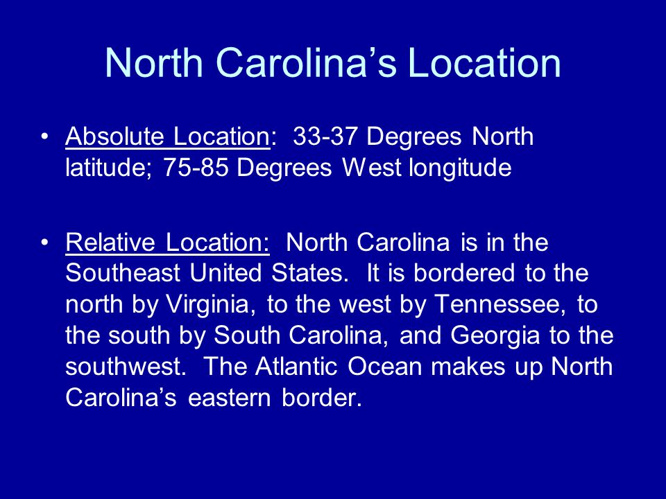North Carolina's Location
