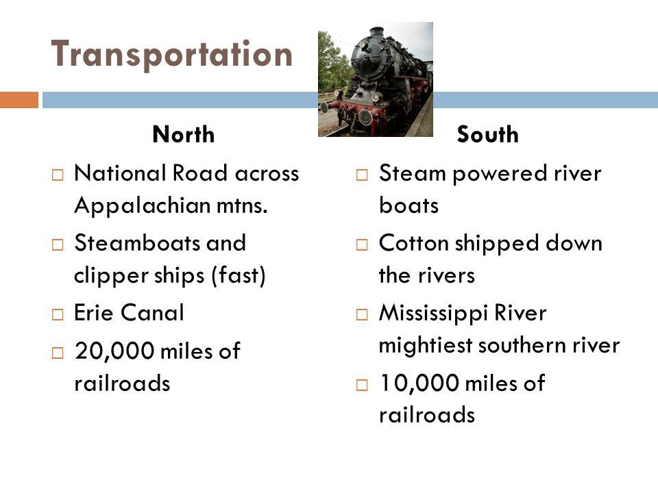 Transportation North National Road across Appalachian mtns.