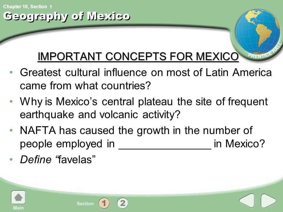 IMPORTANT CONCEPTS FOR MEXICO
