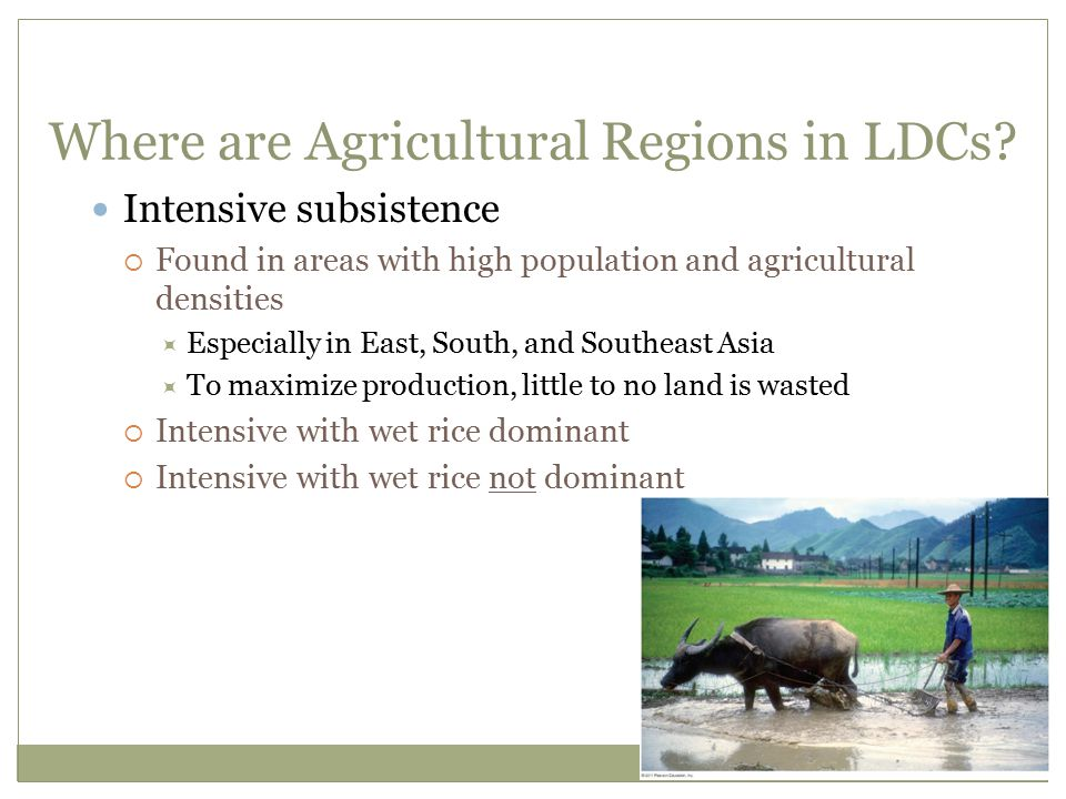 Where are Agricultural Regions in LDCs