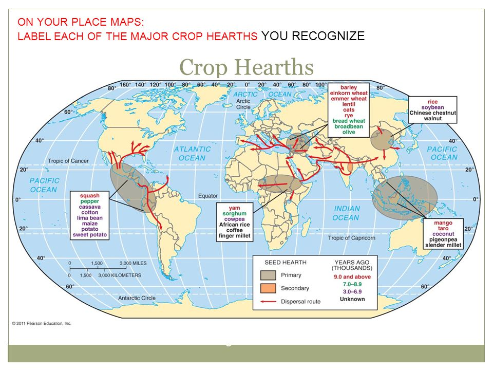 Crop Hearths Figure 10-2 ON YOUR PLACE MAPS: