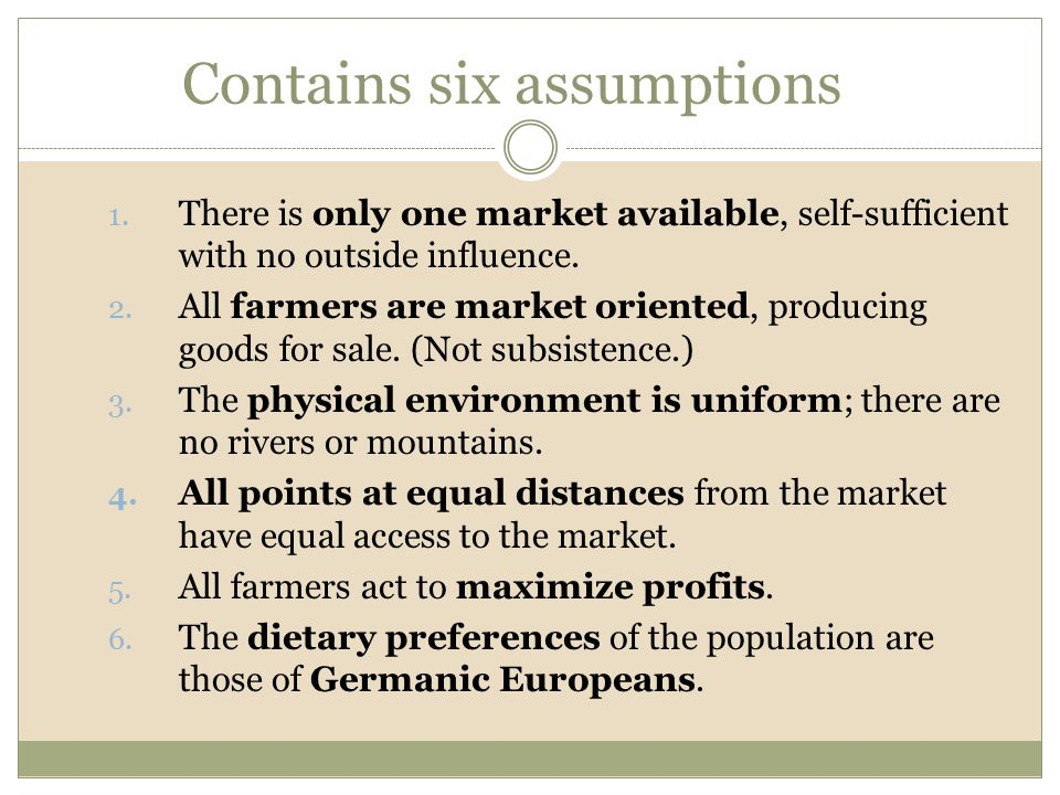 Contains six assumptions