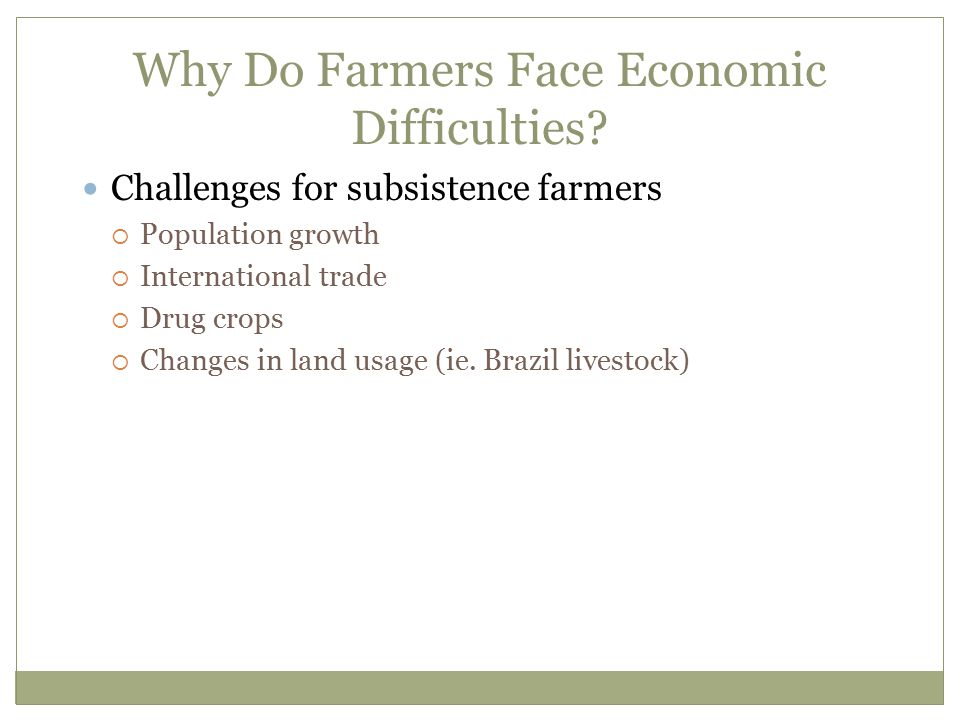 Why Do Farmers Face Economic Difficulties