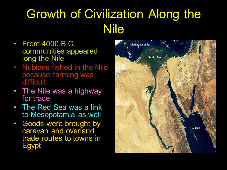Growth of Civilization Along the Nile
