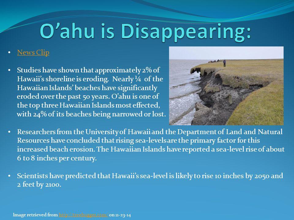 O'ahu is Disappearing: