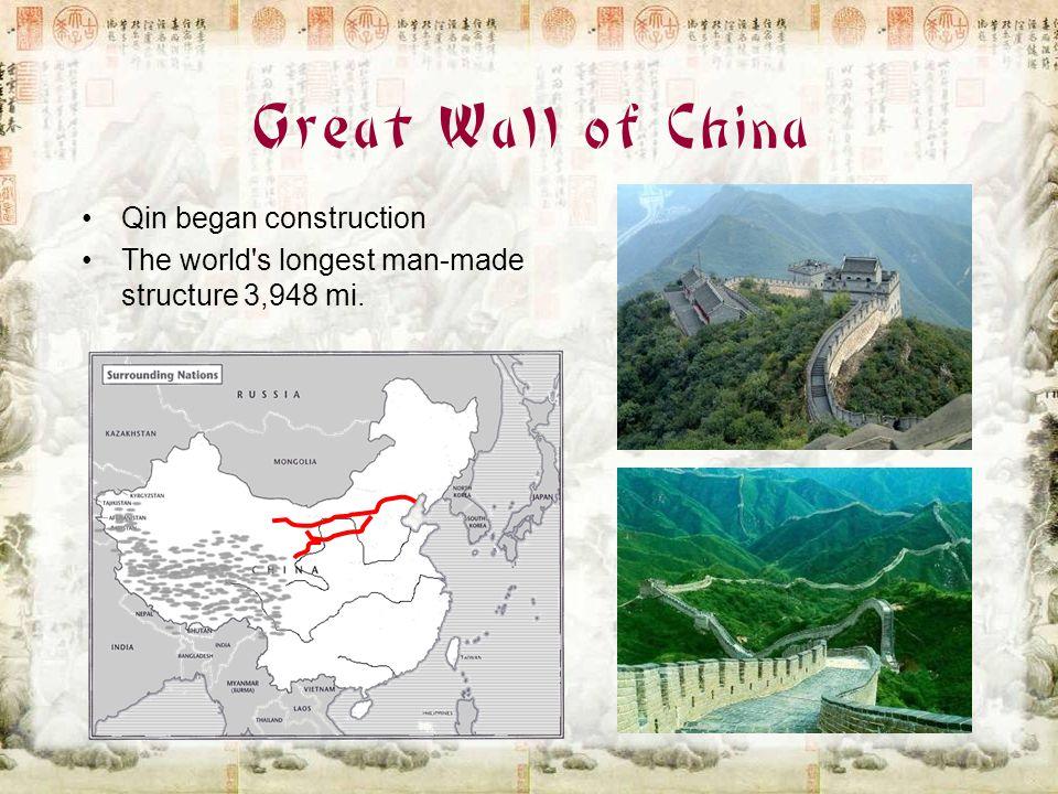 Great Wall of China Qin began construction
