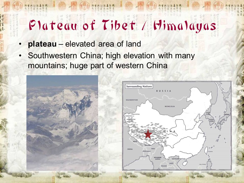 Plateau of Tibet / Himalayas