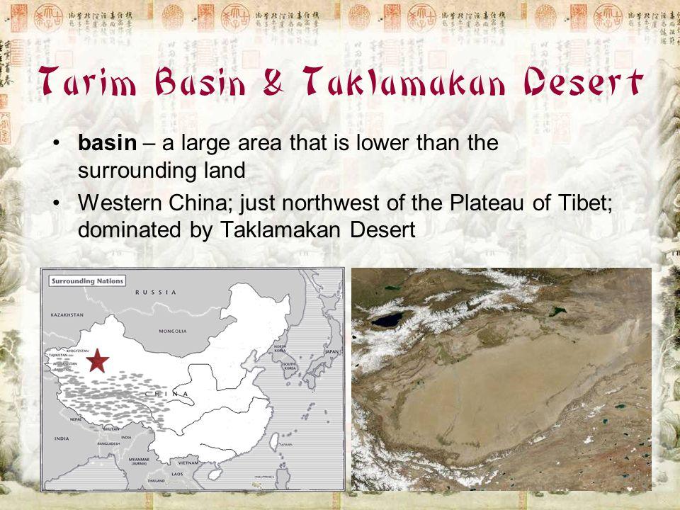 Tarim Basin & Taklamakan Desert