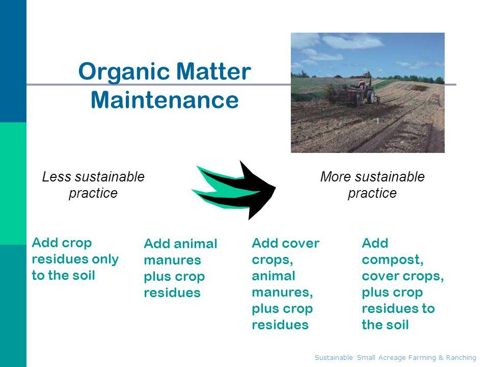 Organic Matter Maintenance