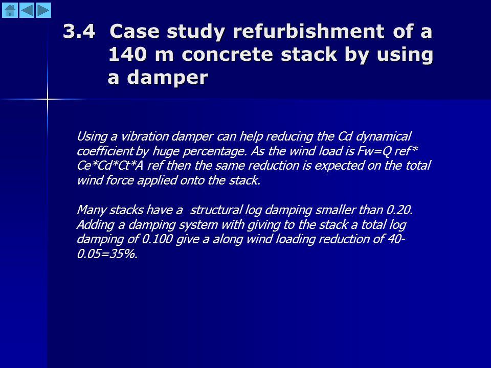 3.4 Case study refurbishment of a 140 m concrete stack by using a damper