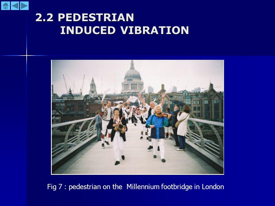 2.2 PEDESTRIAN INDUCED VIBRATION