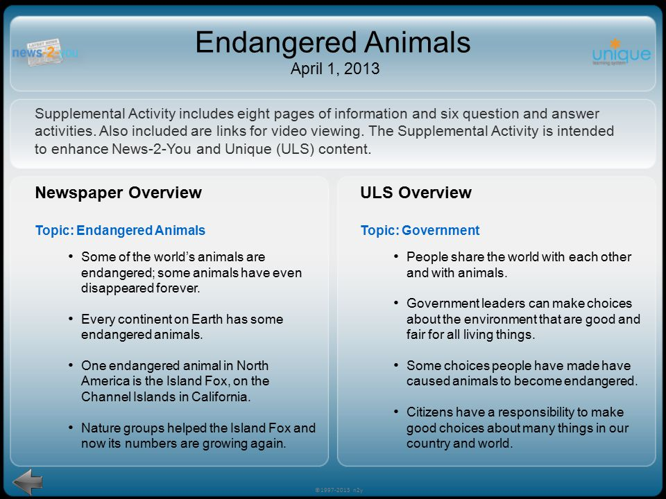 The protection of americas endangered areas