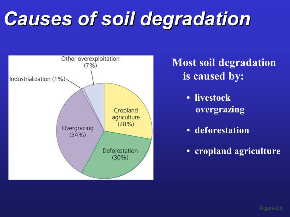 Causes of soil degradation