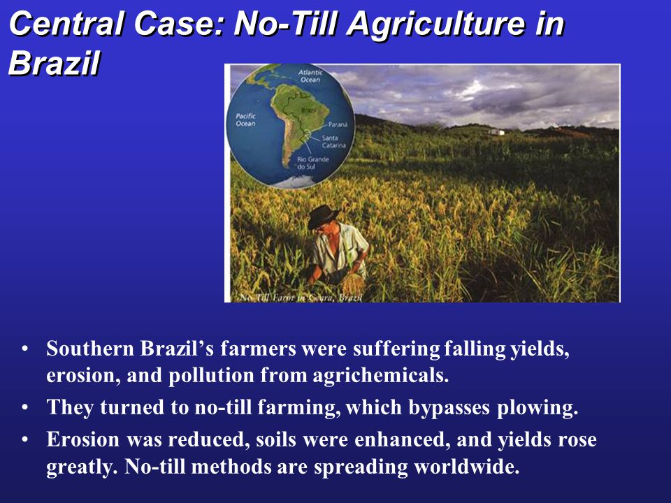 Central Case: No-Till Agriculture in Brazil