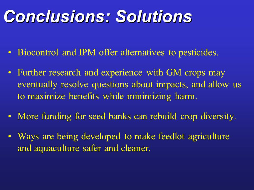 Conclusions: Solutions