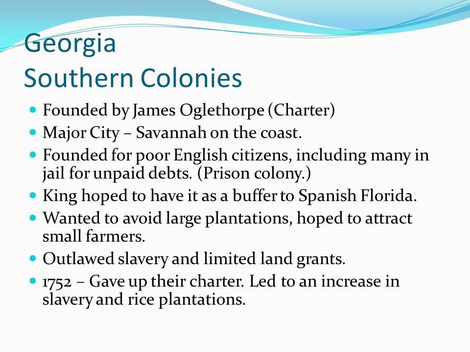 Georgia Southern Colonies