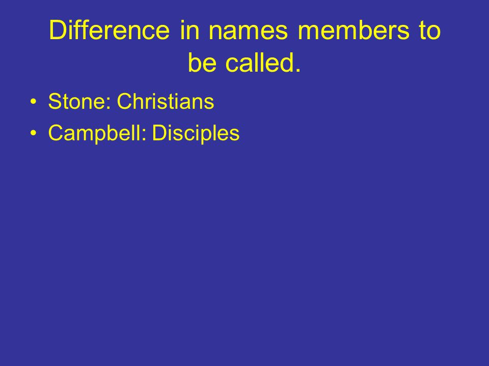 Difference in names members to be called.
