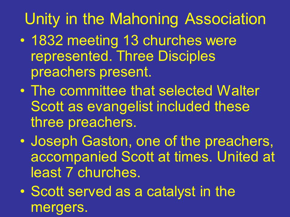 Unity in the Mahoning Association
