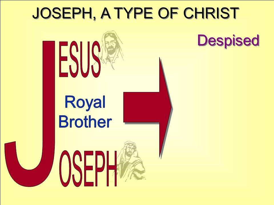 JOSEPH, A TYPE OF CHRIST Despised J ESUS Royal Brother OSEPH