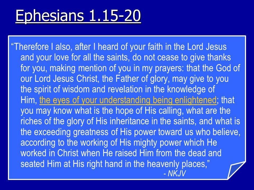 Ephesians 1.15-20