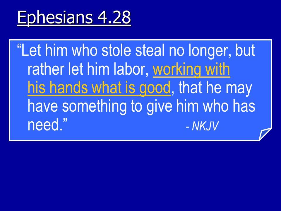 Ephesians 4.28