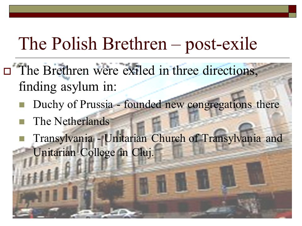 The Polish Brethren – post-exile